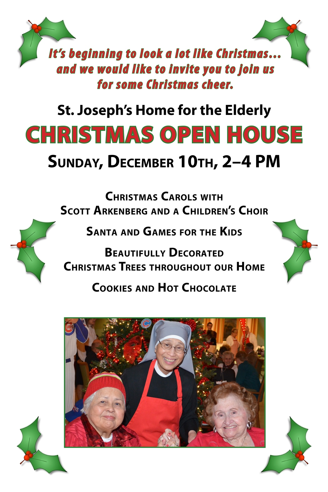 Christmas Open House.Christmas Open House Little Sisters Of The Poor Palatine